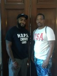 Mr. Derris Moore and Mr. Antoin Quarles-El, HOPE leader and founder